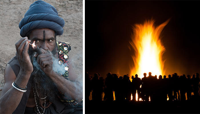 Shivaratri-festival-in-India,-cannabis-and-religion