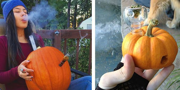 Homemade-Pumpkin-Bong-pipe