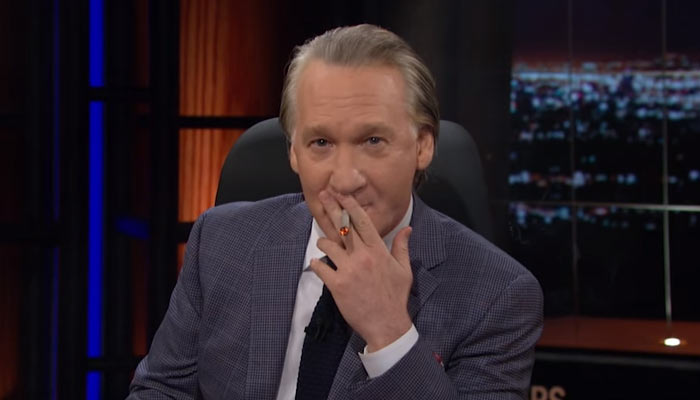 Bill-Maher-Lights-Up-A-Joint-and-Discusses-Pot-Problem-In-America