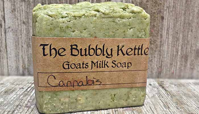 Cannabis-scented-goats-milk-soap